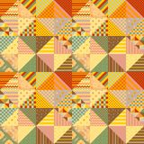 Colorful seamless patchwork pattern. Multicolor background from different triangle patches.  vector illustration