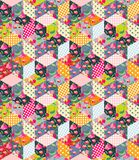Colorful seamless patchwork pattern. Quilt from different patches Royalty Free Stock Photos
