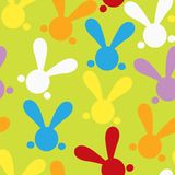Colorful seamless patern with easter bunny. Vector Stock Photos