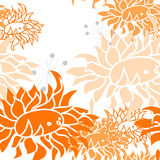 Colorful seamless pattern. With flowers Royalty Free Stock Photography
