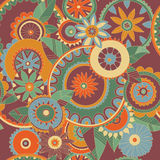 Colorful seamless pattern. Abstract background - floral seamless pattern Royalty Free Stock Photo