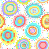Colorful seamless pattern. With abstract flowers Stock Image
