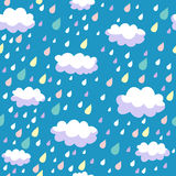 Colorful seamless pattern. Colorful vector seamless pattern - rainy weather Royalty Free Stock Photos