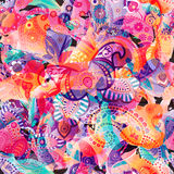 Colorful seamless pattern. Abstract briht wallpaper, background Stock Photography