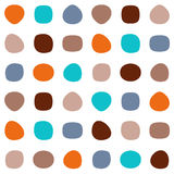 Colorful seamless pattern. With abstract round shapes Royalty Free Stock Photography