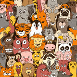Colorful Seamless Pattern With Animals. Royalty Free Stock Photography