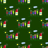 Colorful seamless pattern on blackboard. Stock Photography