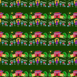 Colorful seamless pattern on blackboard. Stock Images