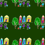 Colorful seamless pattern on blackboard. Royalty Free Stock Photos