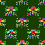 Colorful seamless pattern on blackboard. Royalty Free Stock Photography