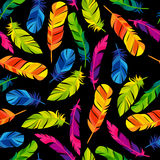 Colorful seamless pattern with bright abstract Stock Images