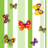 Colorful seamless pattern with butterflies Stock Photos