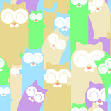 Colorful seamless pattern with cats Royalty Free Stock Photography
