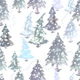 Colorful seamless pattern with Christmas tree. Vector colorful seamless background with Christmas tree. Modern illustration. Can be used for wallpaper, pattern Royalty Free Stock Image