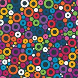 Colorful seamless pattern with circles. Royalty Free Stock Images