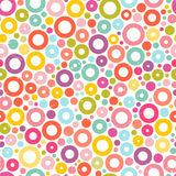 Colorful seamless pattern with circles. Fabric print. Cute abstract background. EPS10 vector illustration Royalty Free Stock Photography