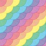 Colorful seamless pattern with circles .Vector illustration. Abstract rainbow colored background. Modern stylish abstract texture. Royalty Free Stock Photo