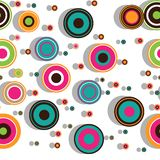 Colorful seamless pattern with concentric circles Royalty Free Stock Photography