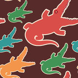 Colorful seamless pattern with crocodiles. Stock Images