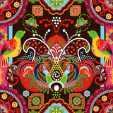 Colorful seamless pattern with decorative birds and flowers Royalty Free Stock Photo