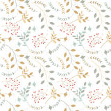 Colorful seamless pattern with different silhouettes of branches Royalty Free Stock Images