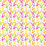 Colorful seamless pattern with easter bunny Stock Photos