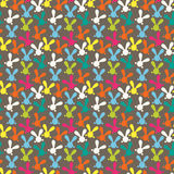 Colorful seamless pattern with easter bunny Stock Images