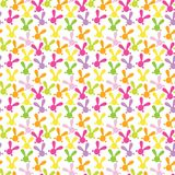 Colorful seamless pattern with easter bunny. Stock Photography