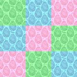 Colorful seamless pattern of easter ornate eggs Stock Images