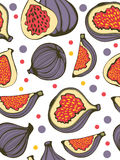 Colorful seamless pattern with figs Stock Image