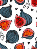 Colorful seamless pattern with figs. Royalty Free Stock Images