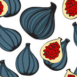 Colorful seamless pattern with figs Royalty Free Stock Image