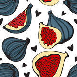 Colorful seamless pattern with figs Stock Images