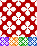 Colorful seamless pattern with flower like motif Royalty Free Stock Photography