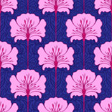 Colorful seamless pattern with flowers stock illustration