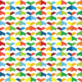 Colorful seamless pattern of geometric shapes.  Royalty Free Stock Images