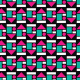 Colorful seamless pattern of geometric shapes Royalty Free Stock Images