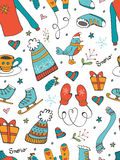Colorful seamless pattern with hand drawn graphic Royalty Free Stock Photo