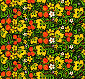 Colorful seamless pattern in hohloma style Royalty Free Stock Photography