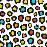 Colorful seamless pattern. Imitation leopard skins. Decorative seamless background for design. Imitation leopard skins Royalty Free Stock Photo