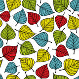 Colorful seamless pattern with leaves Royalty Free Stock Images