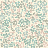 Colorful seamless pattern with leaves Royalty Free Stock Photography