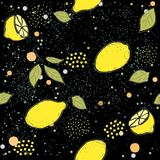 Colorful Seamless Pattern with lemon Royalty Free Stock Photography
