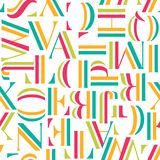 Colorful seamless pattern with letters. Geometric abstract vector Royalty Free Stock Images