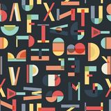Colorful seamless pattern with letters. Geometric abstract vector royalty free illustration