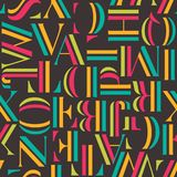 Colorful seamless pattern with letters. Geometric abstract vector Stock Images