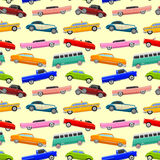 Colorful seamless pattern with limousines. Royalty Free Stock Image