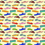 Colorful seamless pattern with limousines. Royalty Free Stock Photo