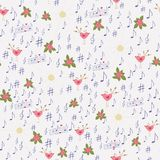 Colorful seamless pattern. Seamless pattern for love themes. Hand drawn colored cute elements on a light background Royalty Free Stock Photo