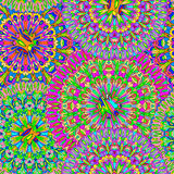 Colorful seamless pattern mandala. Royalty Free Stock Photos